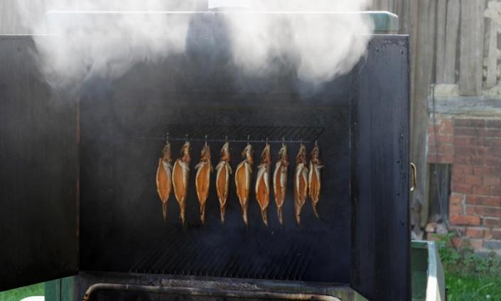 Frischer Fisch - frisch aus dem Räucherofen