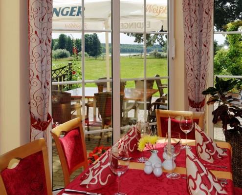 Das Restaurant im Landhotel *Am Peetscher See* in Mirow