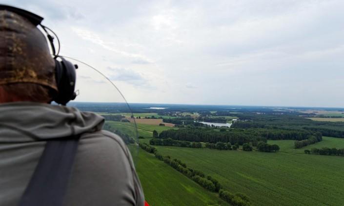 Rundflug über Mirow im Gyrocopter