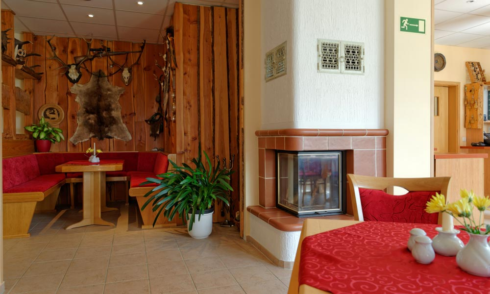 Kamin-Ecke im Restaurant