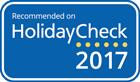 Empfohlen von Holiday Check 2017